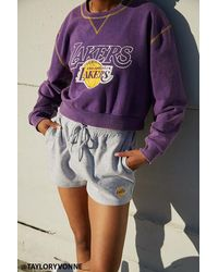 Forever 21 Los Angeles Lakers Shorts - Gray