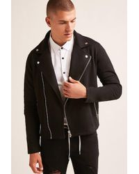 Forever 21 - 's Ribbed Moto Knit Jacket - Lyst