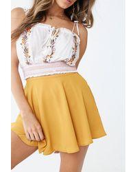 Forever 21 Mini Skater Skirt , Mustard - Multicolour