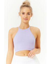 Forever 21 - Active Ribbed Cropped Cami - Lyst