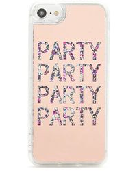 Forever 21 Party Graphic Waterfall Phone Case For Iphone 6/7/8 , Pink/multi