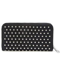 Forever 21 Stud Faux Leather Wallet - Black