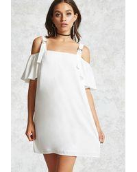 Forever 21 - D-ring Open-shoulder Dress - Lyst