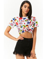 Forever 21 - World Flags Graphic Tee - Lyst