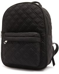 Forever 21 Quilted Woven Backpack - Black