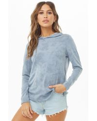 Forever 21 - Oil Wash Hooded Top - Lyst