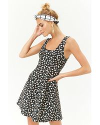 Forever 21 - Ditsy Floral Print Fit & Flare Dress - Lyst
