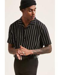 Forever 21 - Pinstripe Cuban Collar Shirt - Lyst