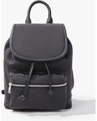 Forever 21 Faux Leather Trim Backpack - Black