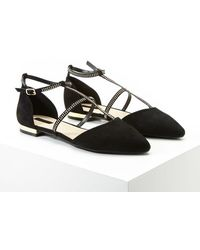 Forever 21 - Faux Suede Caged Flats - Lyst