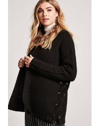Forever 21 | Lace-up Cardigan | Lyst