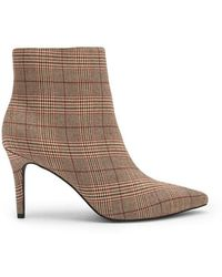 Forever 21 - Women's Check Print Pointed Toe Boots - Lyst