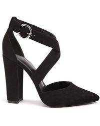 Forever 21 - Faux Suede Strappy Block Heels - Lyst