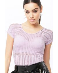 396d5c165fe Forever 21 Ribbed Knit Crop Top in Green - Lyst