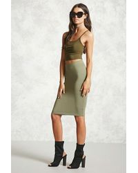 FOREVER21 - Stretch-knit Bodycon Skirt - Lyst