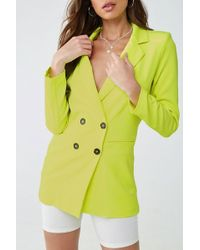 Forever 21 Double Breasted Blazer , Neon Green - Yellow
