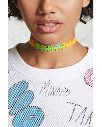 Forever 21 - Multicolored Floral Choker - Lyst
