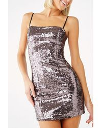 Forever 21 Sequin Mini Bodycon Dress - Black