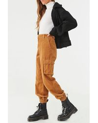 Forever 21 - Corduroy Cargo Joggers , Camel - Lyst