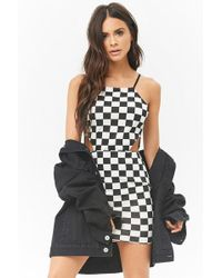 Forever 21 - Checkered Cami Mini Dress - Lyst