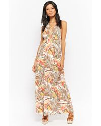 2c48145a477 Forever 21 - Tropical Halter Maxi Dress - Lyst