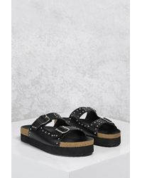Forever 21 - Buckle Studded Sandals - Lyst