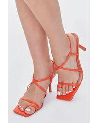 Forever 21 Square Toe-ring Heels - Orange