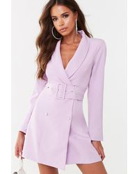 Missguided Longline Blazer At , Lilac - Purple