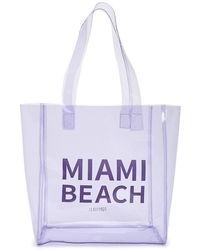 Forever 21 - Transparent Miami Beach Tote Bag - Lyst