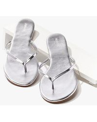 Forever 21 Metallic Faux Leather Flip Flops