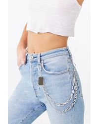 Forever 21 Layered Wallet Chain , Silver - Metallic