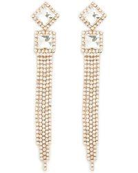 Forever 21 - Rhinestone Geo Duster Earrings - Lyst