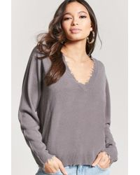 Forever 21 - Frayed Sweater-knit Top - Lyst