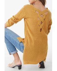 Forever 21 Chunky Crisscross Sweater - Multicolor