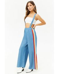 Forever 21 - Chambray Suspender Pants - Lyst