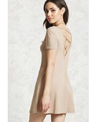 Forever 21 | Crisscross Back Mini Dress | Lyst