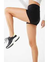 Forever 21 Active Fold-over Athletic Shorts , Black