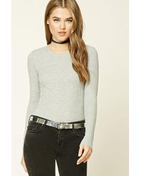 Forever 21 | Waffle Knit Crew Neck Top | Lyst