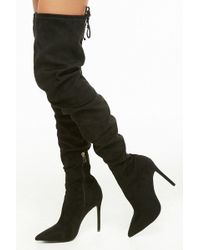 Forever 21 - Women's Faux Suede Over-the-knee Boots - Lyst