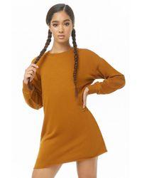 0d100c874e Forever 21 Hooded Sweatshirt Dress in Green - Lyst