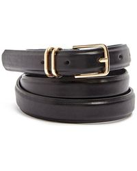 Forever 21 - Faux Leather Skinny Hip Belt - Lyst