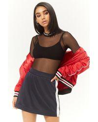 Forever 21 Tearaway Mini Skirt , Navy/white - Multicolour