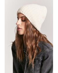 Forever 21 - Boucle Knit Beanie Hat - Lyst