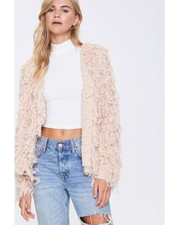 Forever 21 Shaggy Open-front Cardigan - Multicolour