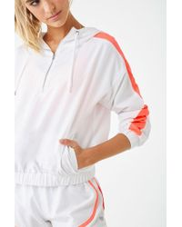 Forever 21 Active Mesh-trim Anorak , White/coral