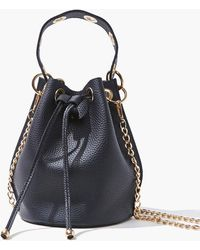 Forever 21 Faux Leather Bucket Bag In Black