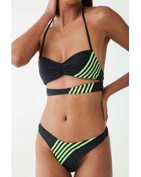 cd42e50ecf Forever 21 - Striped Trim Halter Bikini Top - Lyst