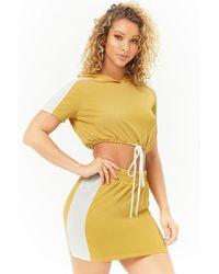 Forever 21 - Colorblock Crop Top & Skirt Set - Lyst