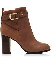 Forever New Bridget Block Heel Ankle Boots - Brown