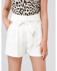 Forever New Natalia Tie Waist Shorts - White